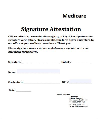 Signature Attestation Letter Format sle attestation form 11 exles in word pdf