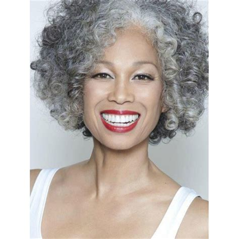 taming coarse grey hair gracefully short afro curly grey silver women s synthetic