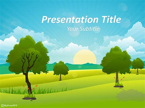 landscape powerpoint template free environmental powerpoint templates themes ppt
