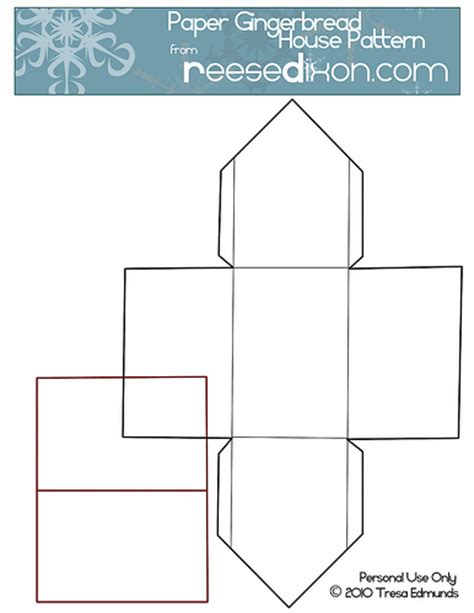 paper house template paper gingerbread house pattern reesedixon flickr