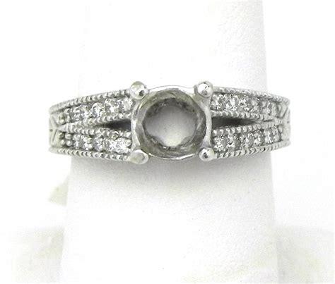 Rolex 010 Semi 14k white gold diamonds semi mount engagement ring