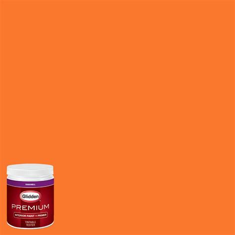 glidden premium 8 oz nfl 175g miami dolphins light orange eggshell interior paint with primer