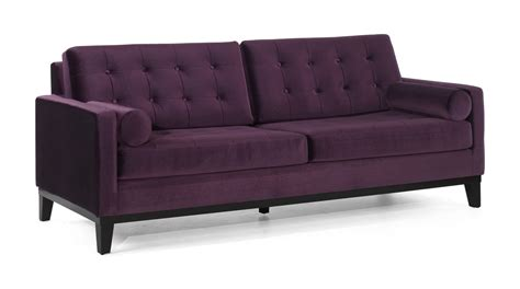 Purple Velvet Sofas by Armen Living Centennial Sofa Set Purple Velvet Lc7253pu