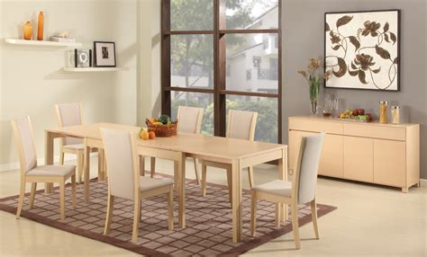 extendable wooden made in spain modern dining room extendable rectangular wooden and fabric seats designer