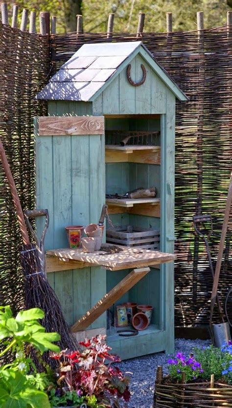 build  whimsical tool shed   garden