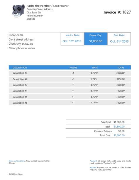 freelance invoice software invoice template ideas