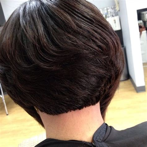 short layered bob hairstyles african american short short bob hairstyles for black women back view hair