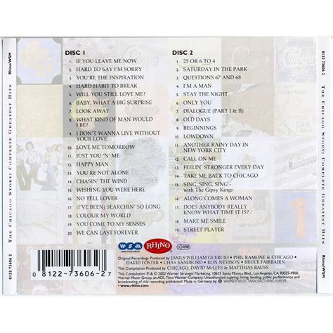 Cd Chicago The Of 1967 1988 the chicago story the complete greatest hits 1967 2002 cd1 chicago mp3 buy tracklist