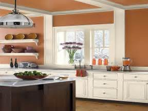kitchen orange kitchen color schemes with wood