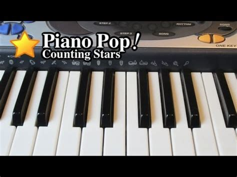 counting stars keyboard tutorial easy counting stars piano lesson one republic easy piano
