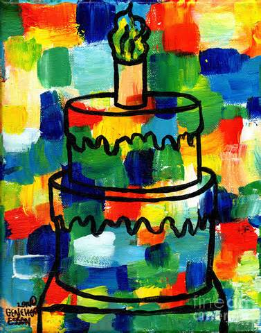 Room Decorating App stl250 birthday cake abstract painting by genevieve esson