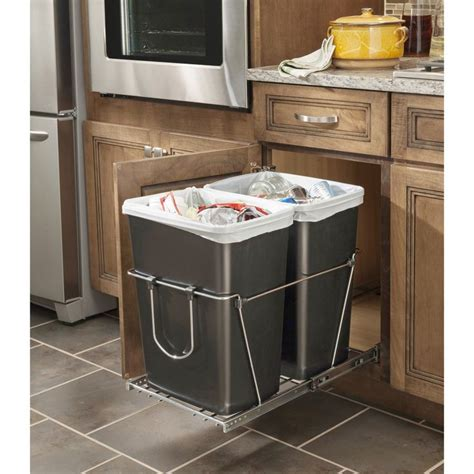 cabinet trash can replacement rev a shelf trash can kitchen cabinet trash can classy