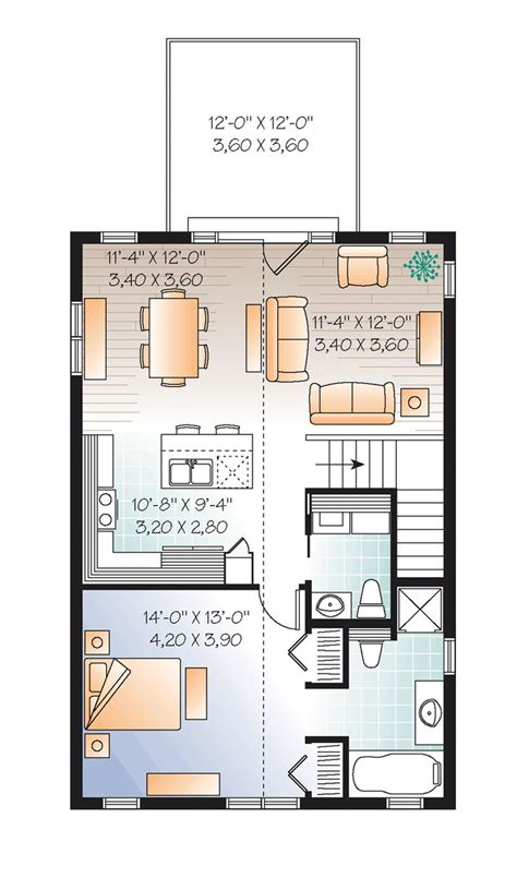 Garage Studio Apartment Plans by Second Floor Plan Of Garage Plan 76227 Great House Above