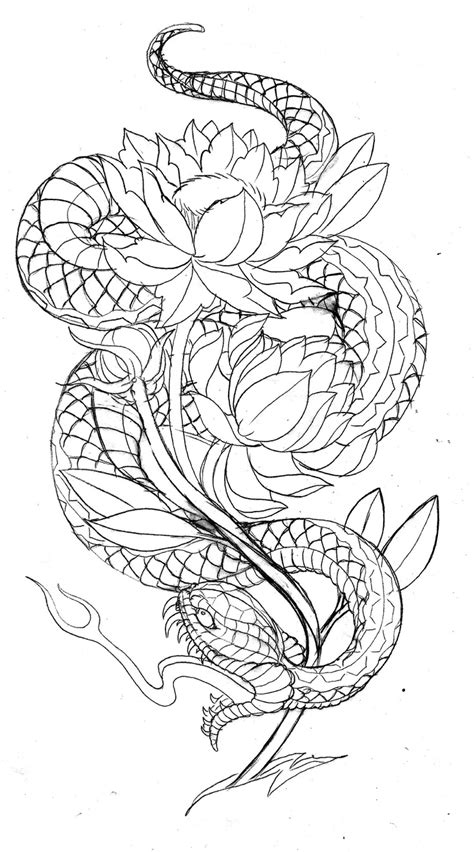 tattoo outline printer japanese snake tattoo designs japanese snake print
