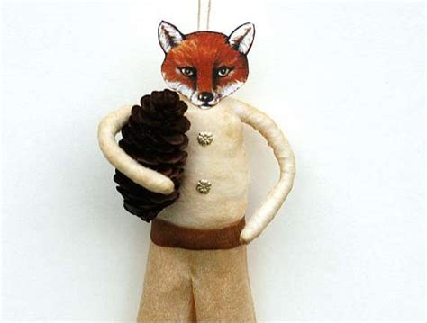 fantastic fox christmas ornaments old world primitives