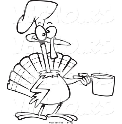 free coloring pages of cartoon turkey