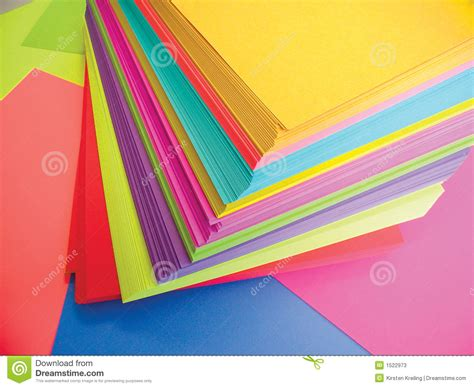 What To Make With Colored Paper - colored paper stock photos image 1522973