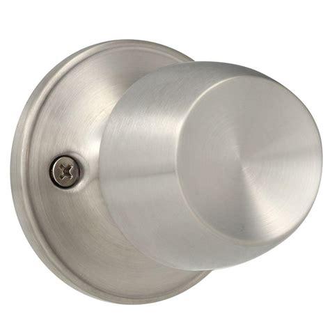 Defiant Dummy Door Knobs defiant brandywine stainless steel dummy knob t8640 the