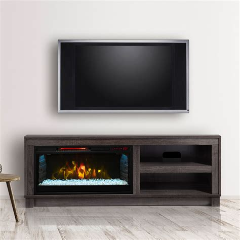 tv stands with electric fireplaces cameron electric fireplace tv stand in grey cs 28mm1030