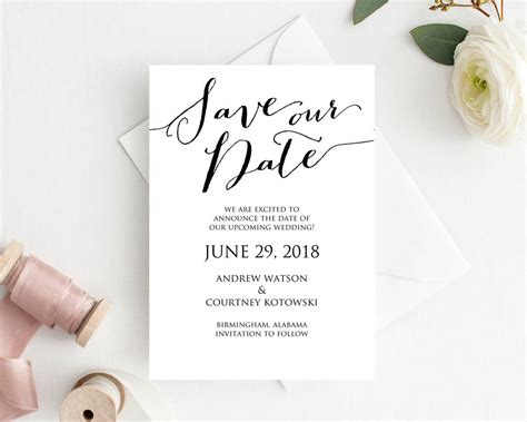 Save The Date Postcard Templates save our date card template 183 wedding templates and printables