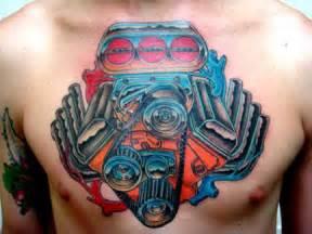 gallery v8 motor tattoos designs