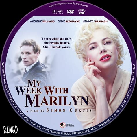 with dvd my week with marilyn custom dvd labels my week with