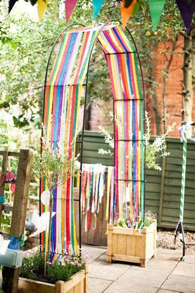 Wedding Arch Anchors by Streamers On An Arch The Planter Box Anchors