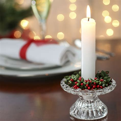 red  green pip berry candle ring pip berries
