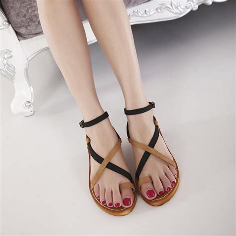 Sandal Fashion Korea 288 sandals summer 2015 korea style flat sandals casual style sandal