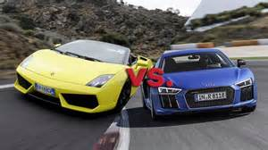 Lamborghini Vs Audi The Audi R8 V10 Vs Lamborghini Gallardo 560 4 Wheels Ca