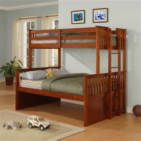 twin full bed theodore twin full bunk bed