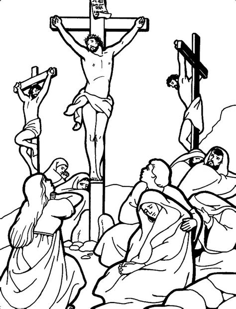coloring pages jesus crucifixion free coloring pages of buried jesus