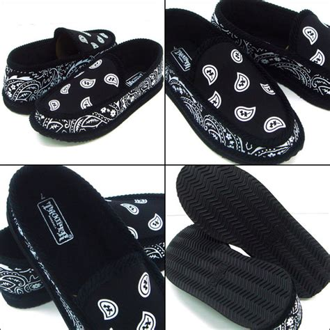 bandana house slippers navy blue bandana house shoes slippers trooper brand new size 9 10 11 12 13 ebay