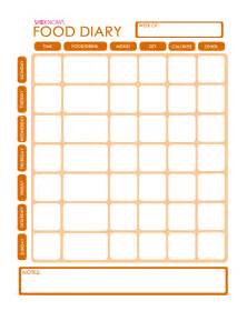 Food Journal Template Free free printable food diary template