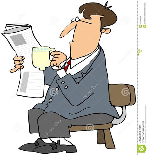 Cox Plans man reading a newspaper and drinking coffee stock images