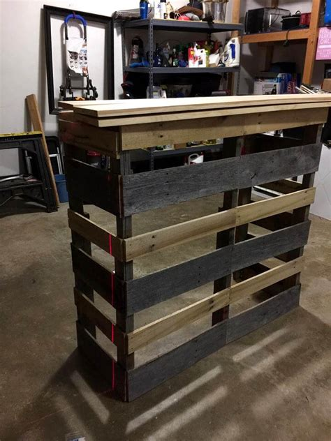 How To Build A Wood Bar Top Counter Pallet Bar Step By Step