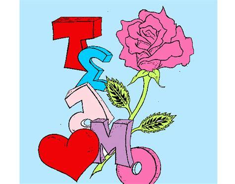 imagenes te amo para dibujar dibujo de te amo pintado por montsesita en dibujos net el