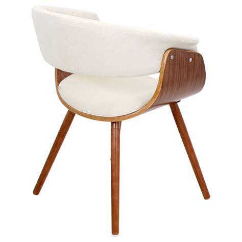 Venice modern walnut cream lounge chair eurway