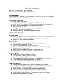 Grocery Stock Clerk Sle Resume by Grocery Store Cashier Resume Ilivearticles Info