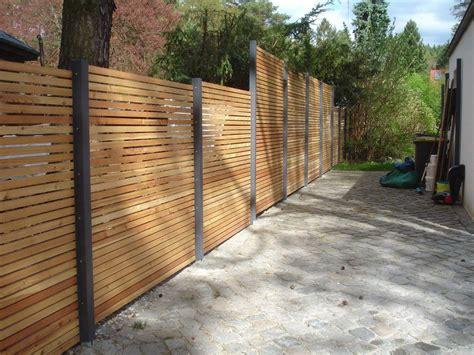 Sichtschutz Holz Terrasse by Design Sichtschutz Zaun Blickdicht Aus Metall Holz