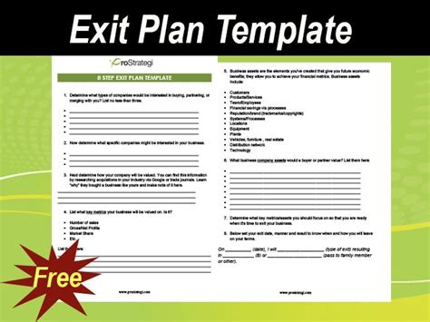 business exit strategy template exit plan template for business meylah