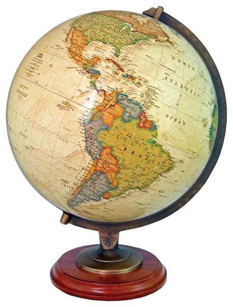 Adams Illuminated Desktop World Globe by National Geographic   Traditional   World Globes   by