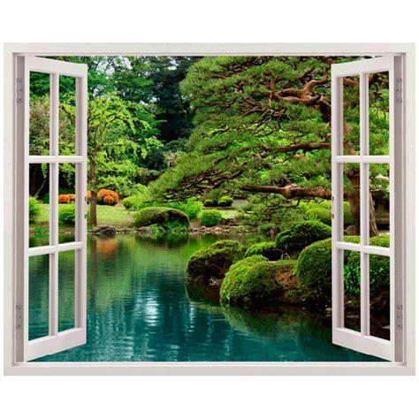 Fototapete Fenster Garten by Wandtattoo Mit Fenster Illusionen