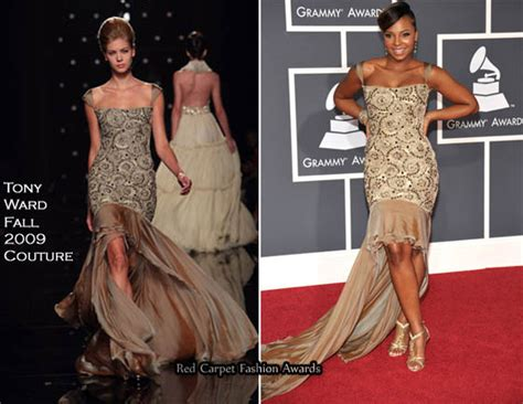 Catwalk To Carpet Grammy Awards by Runway To 2010 Grammy Awards Ashanti In Tony Ward