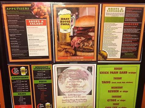 brat house grill brat house grill wisconsin dells menu prices