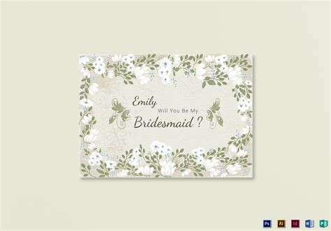 will you be my bridesmaid card template vintage will you be my bridesmaid card template in psd