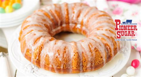 carrot cake with orange glaze pioneer sugar