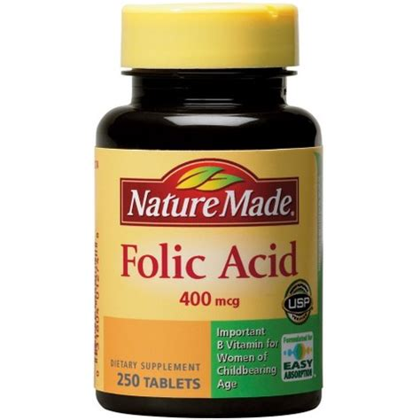 Garden Of Folate Nature Made Folic Acid 400 Mcg Tablets 250 Count Target