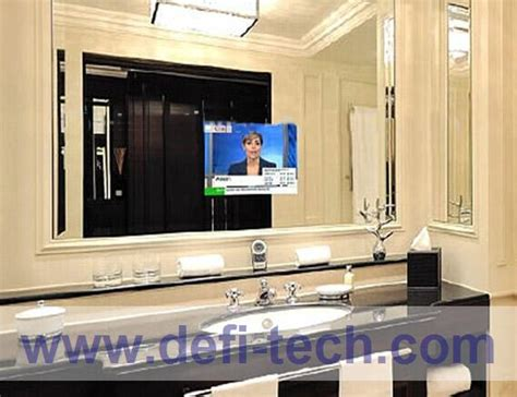 bathroom mirror tv screen mirror tv glass magic advertising display mirror interactive mirror defi tech ltd