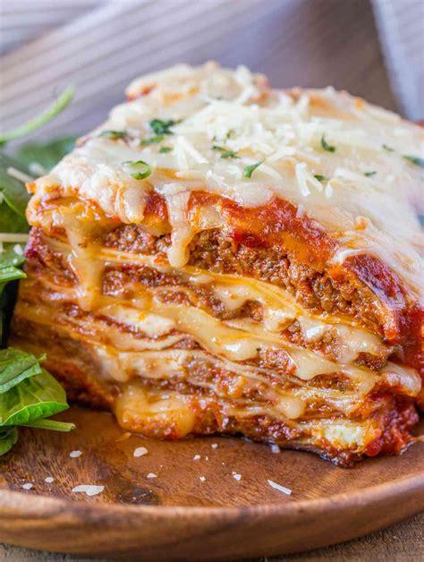 ultimate meat lasagna dinner  dessert